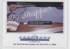 2010-11 UD North Carolina Basketball 134 Lee Shaffer (UNC) Tar Heels Rookie Card