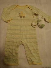 GYMBOREE Brand New Baby 3-6 or 6-9-12 Month Toy Duck Socks Stripe Outfit NWT