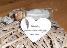 Angel white feather  / in memory /memorial Gift Mum,Dad, Sister Baby, Boy, Girl