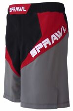 Sprawl MMA Fusion 3 Fight Shorts Black/Red Mix Martial arts UFC Cage 2015