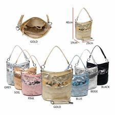 LADIES Bag SHOPPER METALLIC Strap bag Shoulder Bag HOBO bag