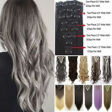 8 Piece Clip In Hair Extensions 100% Natural Full Head Real As Human Hair Ah2