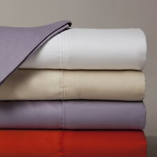"""600-Thread-Count 1PC Super Soft Fitted Sheet Solid 100% Cotton 28"""" Deep Pocket"""