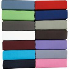 """600-Thread-Count 1PC Super Soft Fitted Sheet Solid 100% Cotton 34"""" Deep Pocket"""