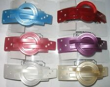 ACRYLIC BARRETTE CLEAR CRYSTALS SELECT COLOR SHIPS FAST FROM USA