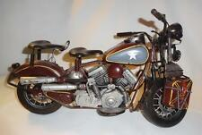 Large Metal Motorcycle Tabletop Decor for Office Bedroom Man Cave Gift for Men