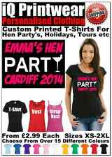 Hen T Shirts Hen Do Party Night T-shirt Ladies Custom Printed Personalised