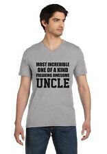 Most Incredible One Of A Kind Freaking Aawesome Uncle V-Neck T-Shirt Gift Idea