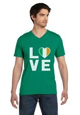 I Love Ireland - Irish Pride Flag of Ireland Gift Idea V-Neck T-Shirt Novelty