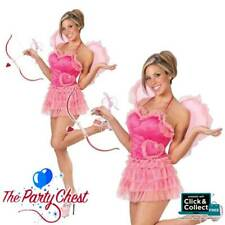 CUPID'S KISS VALENTINES DAY COSTUME Sexy Ladies Cupid Fancy Dress Outfit 3411