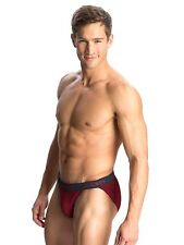 1 PC MENS Jockey ELANCE STRING BIKINI #1005FC underwear -S/M/L/XL- RED WINE