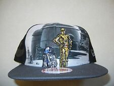 RARE STAR WARS NEW ERA 9FIFTY SNAPBACK HAT CAP YODA VADER CHEWBACCA R2D2 BOBA
