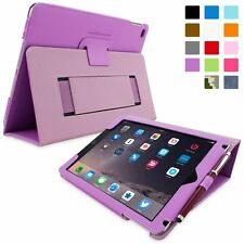 Snugg Leather Flip Stand Case for iPad Air - Purple