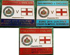 San Marino v England Euro 2016 Qualifier Serravalle 5 September 2015 Pin Badge