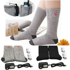 Battery Heated Socks Feet Foot Warmer Electric Heater Shoe Boot Warm Ice Fishing