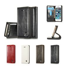 Luxury Magnetic Leather Stand Flip Cover Case Wallet Case for iPhone 5 6S 7 7P