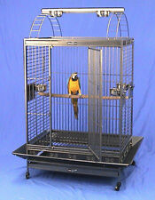 """4 Color, 36""""x26""""x68""""H PlayTop Wrought Iron Parrot Cage With Extra Strong Wire"""