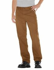 dickies premium big tall mens relaxed fit brown duck carpenter work jeans 40x36