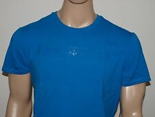 Armani Exchange Authentic Tape Logo Crew Stretch T Shirt Ocean NWT