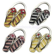 Portable Foldable Folding Zinc Alloy Purse Handbag Hook Hanger Holder 4 Colors