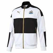 Puma Mens Gents Football Newcastle United Stadium Track Jacket - White Black