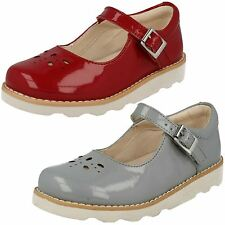 Clarks Girls Patent Leather Shoes 'Crown Posy'