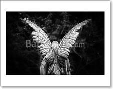 Winged Angel Gravestone Back View Art Print/Canvas Print Home Decor Wall Art