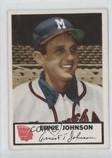 1953 Johnston Cookies Milwaukee Braves #7 Ernie Johnson Rookie Baseball Card