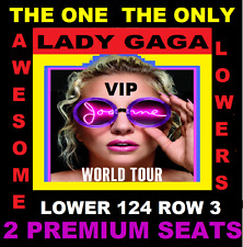 2 LADY GAGA 9/10 VIP 3RD ROW LOWER 124 WELLS FARGO CENTER PHILADELPHIA PA