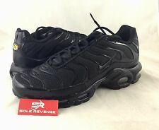 New NIKE AIR MAX PLUS TN Triple Black Shoes 604133-050 95 Tuned Air