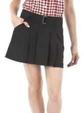 NWT Jean Paul Gaultier SKIRT Pleated Mini SIZE 3,5,7,9,13 BLACK Pinstripe w/Belt