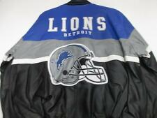 Detroit Lions Mens Medium and Large All Leather Full Zip Jacket LIO 2