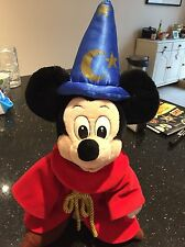 Authentic Disney Sorcerers Apprentice Mickey Mouse Soft Toy Approx 16
