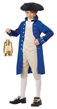 Paul Revere Boy's Colonial Costume Historical American History Blue Jacket