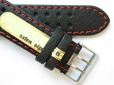 Di-modell Rallye Germany made black red stitched watch band