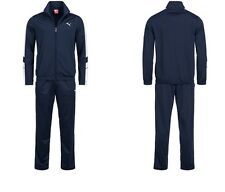 Puma Mens Tracksuit Soccer Training Poly Track Top Pants Navy/White S M L 819298
