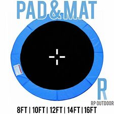 NEW Replacement Trampoline Safety Blue Mat & Pad Round 8ft 10ft 12ft 14ft 16ft