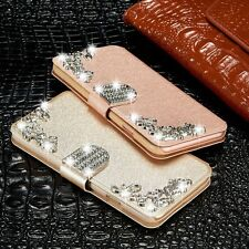 Bling Diamonds Card Wallet Flip Magnetic Leather Case Cover For Samsung/iPhone N