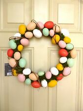 THRESHOLD Indoor Decorative Festive Easter Egg Grapevine Wreath - NEW