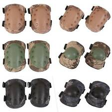 4Pcs Knee Elbow Protective Pads Sports Army Adjustable Combat Tactical Protector