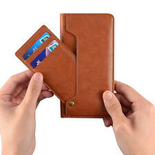 Genuine Real Leather Case Card Wallet Pocket Cover Pouch For iPhone 6 6S 7 Plus