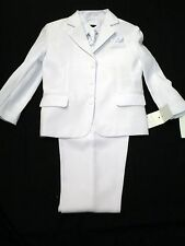 Vangogh boys white long sleeve 5 piece christening suit set Size 4 - 5