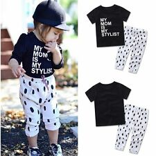 2pcs Toddler Kids Baby Girls Outfit Clothes T-shirt Tops+Long Pants Leggings Set