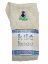 THISTLE Embroidered KILT HOSE  Variety of Sizes & Colours