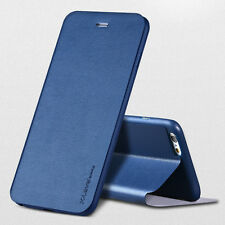 Glossy Genuine Leather Full Cover Flip Stand Phone Case For Samsung/iPhone/LG N