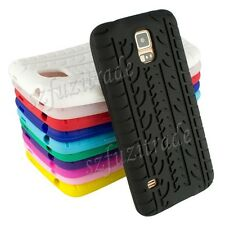 TYRE TIRE SILICONE RUBBER GEL CASE COVER SKIN for SAMSUNG GALAXY S5 V i9600 G900