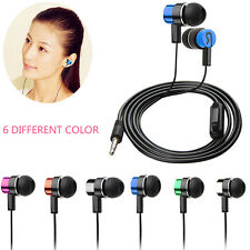 Stereo Subwoofer Earphone In Ear Headset Handsfree W/Mic For Cellphone MP3 4 5