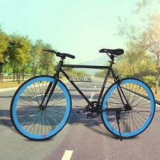 """Men's 26""""Road Bike Fixie Bike Bicycle Outdoor Sports Cycling Durable Steel Frame"""