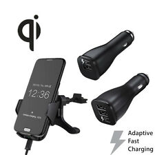 Genuine Qi Air Vent Wireless Mount Holder Fast Car Charger For Samsung Galaxy S7