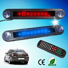 12V Car Message Sign Scrolling Display Board LED Programmable with remote RED